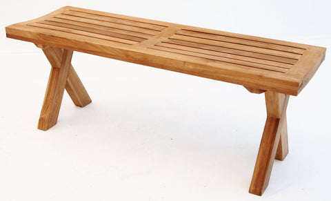 Vivienne Cross Leg Benches - The Teak Place