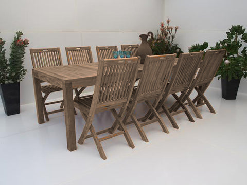Teak Dining Setting No. 18, n/a - THE TEAK PLACE, Settings teak outdoor furniture