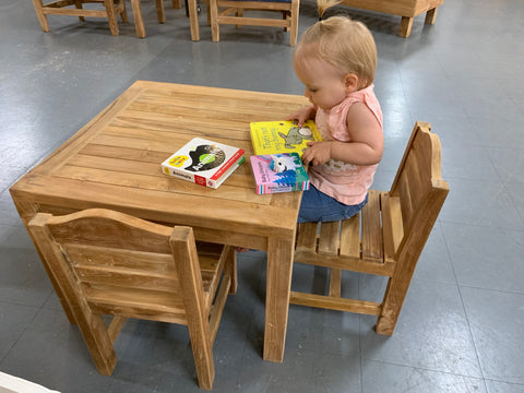 Raphi Kids Teak Dining Set - The Teak Place