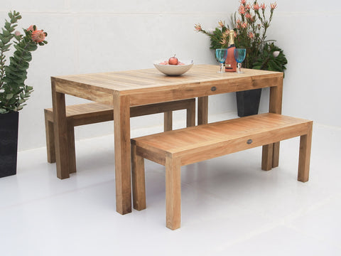 Teak Dining Setting No. 10 (6-8 Seater), n/a - THE TEAK PLACE, Settings teak outdoor furniture