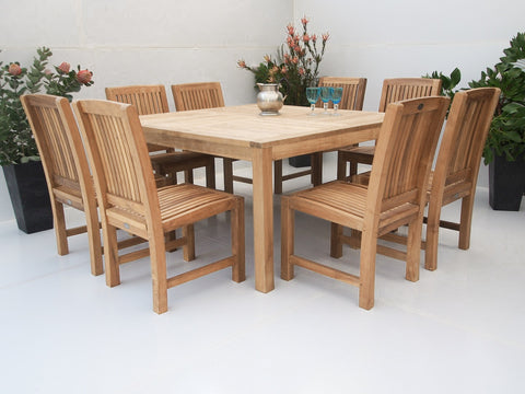 Teak Dining Setting No. 14, n/a - THE TEAK PLACE, Settings teak outdoor furniture