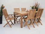 Teak 6 Seater Dining Table - THE TEAK PLACE