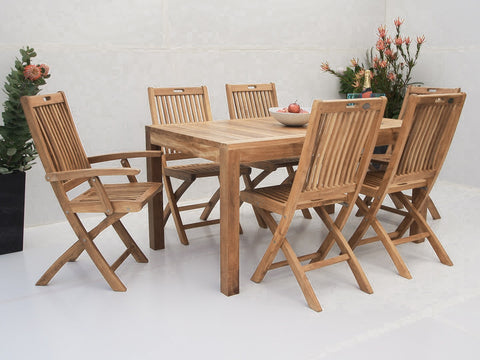 Teak Dining Setting No. 6, n/a - THE TEAK PLACE, Settings teak outdoor furniture