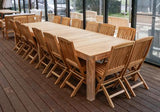 16 Seater Teak Outdoor Dining Set - The Teak Place