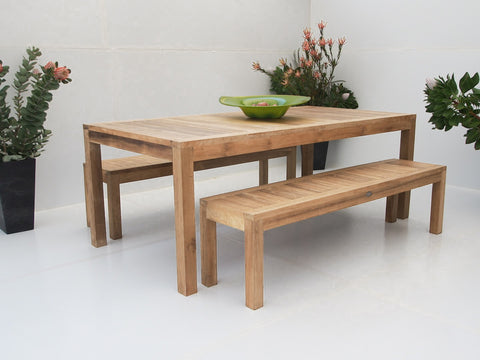 Teak Dining Setting No. 7, n/a - THE TEAK PLACE, Settings teak outdoor furniture