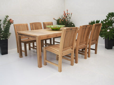 Teak Dining Setting No. 8, n/a - THE TEAK PLACE, Settings teak outdoor furniture