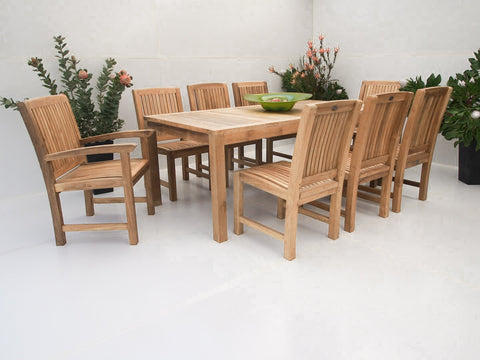 Teak Dining Setting No. 15, n/a - THE TEAK PLACE, Settings teak outdoor furniture