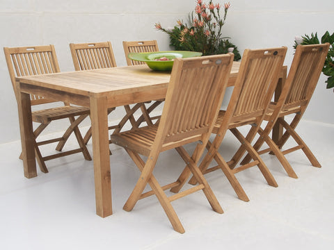 Teak Dining Setting No. 9, n/a - THE TEAK PLACE, Settings teak outdoor furniture
