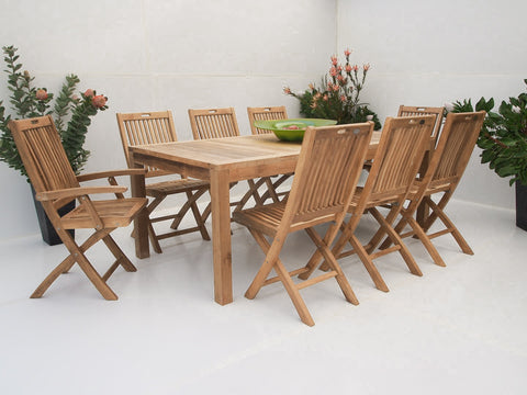 Teak Dining Setting No. 16, n/a - THE TEAK PLACE, Settings teak outdoor furniture
