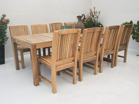Teak Dining Setting No. 17, n/a - THE TEAK PLACE, Settings teak outdoor furniture