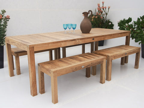 n/a - THE TEAK PLACE, Settings teak outdoor furniture