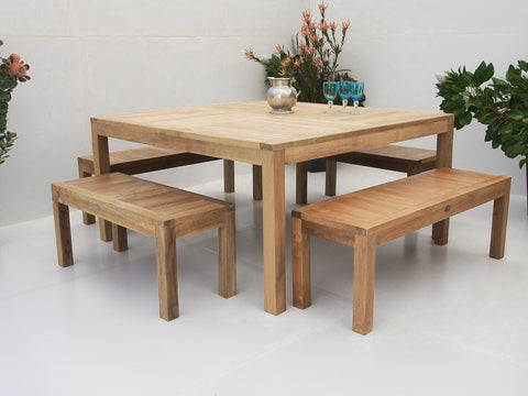 Teak Dining Setting No. 21, n/a - THE TEAK PLACE, Settings teak outdoor furniture