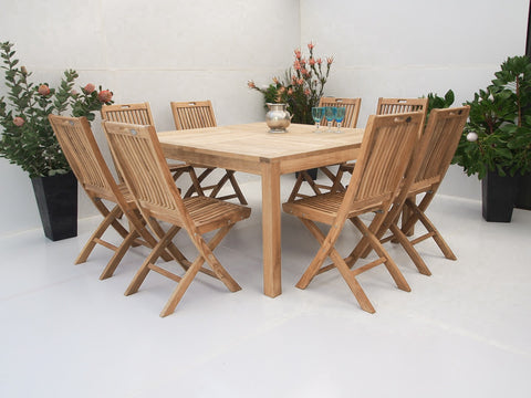 Teak Dining Setting No. 22, n/a - THE TEAK PLACE, Settings teak outdoor furniture