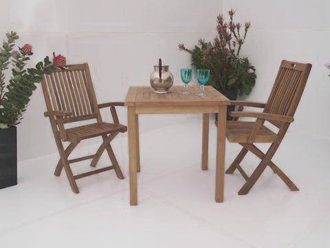 Teak 2 Seater Setting No. 3, n/a - THE TEAK PLACE, Settings teak outdoor furniture