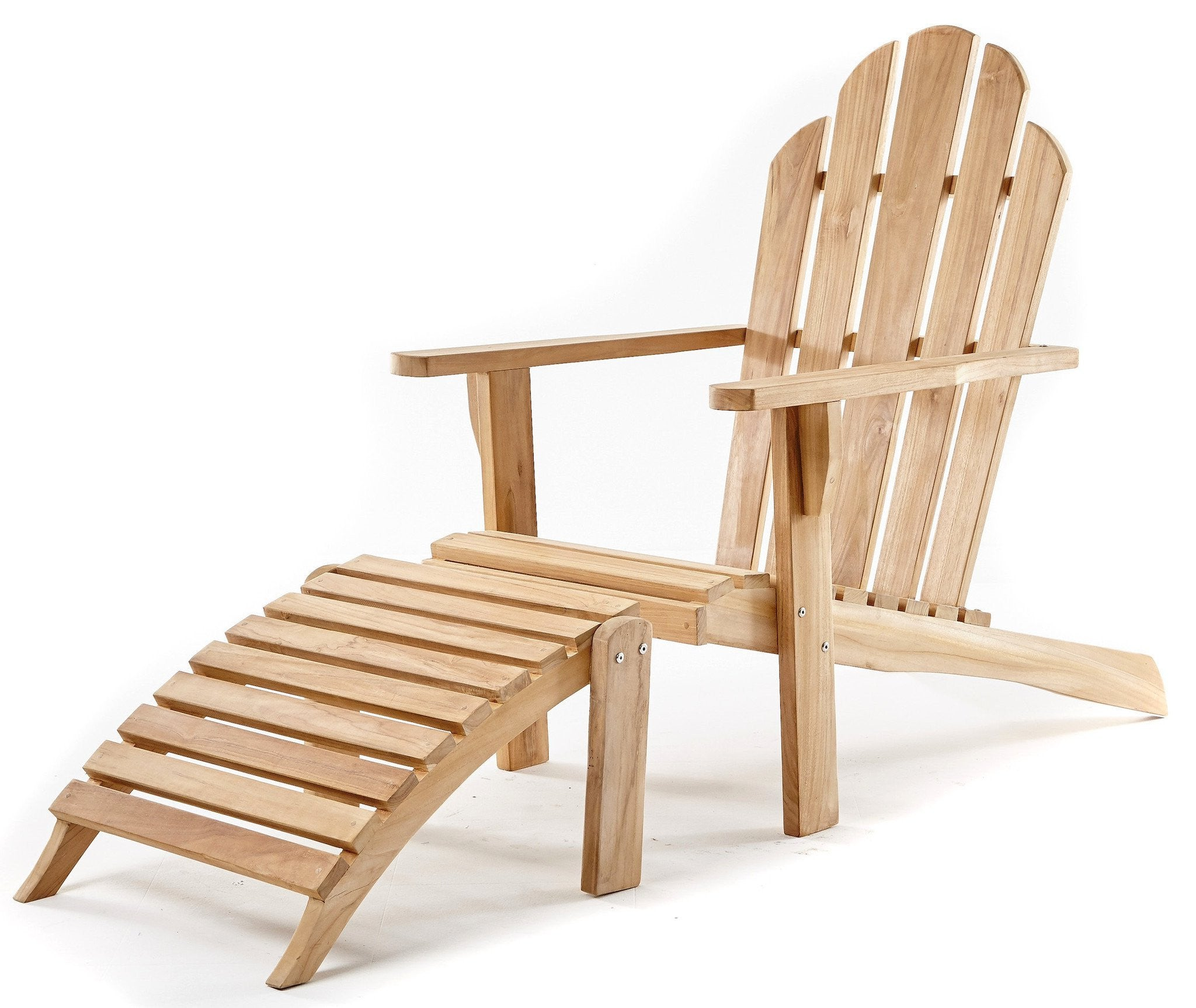 Adirondack Chair & Ottoman – THE TEAK PLACE