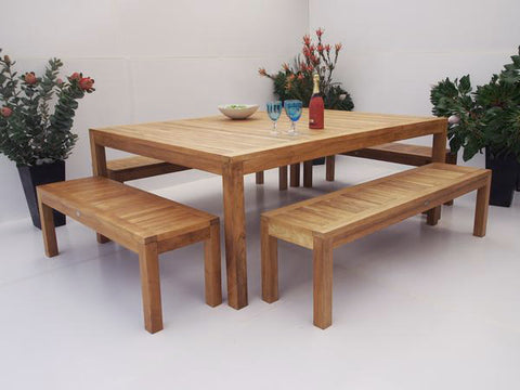 Teak Dining Setting No. 25, n/a - THE TEAK PLACE, Settings teak outdoor furniture