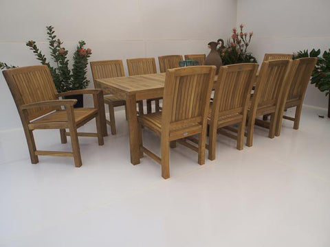 12 Seater Dining Table Set - THE TEAK PLACE