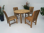 4 Seater Teak Outdoor Dining Set - The Teak Place
