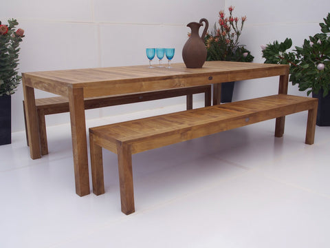 Teak Dining Setting No. 19, n/a - THE TEAK PLACE, Settings teak outdoor furniture