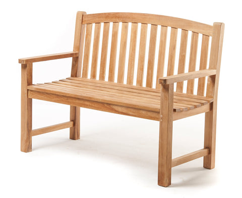 Classic Teak Garden bench with curved back - THE TEAK PLACE