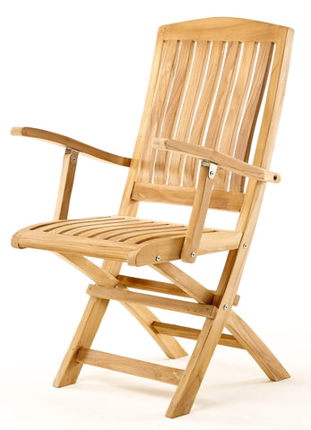 Vivienne Folding Armchair - THE TEAK PLACE