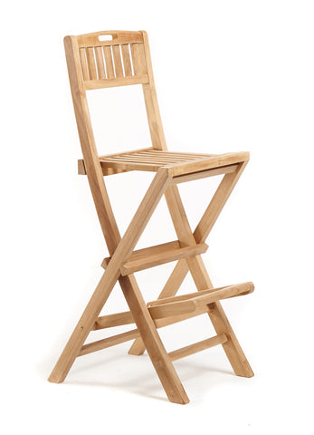 Folding Bar Stools - THE TEAK PLACE