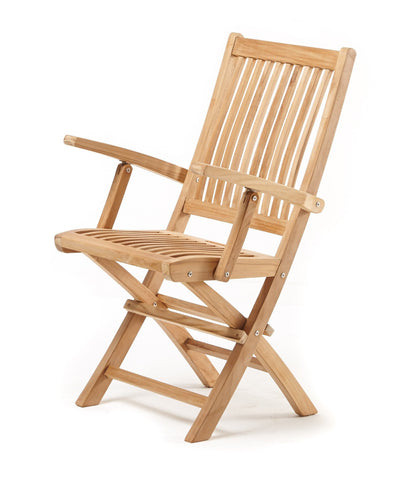Leo Folding Armchair - THE TEAK PLACE