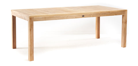 Modern Rectangular Teak Dining Table - The Teak Place