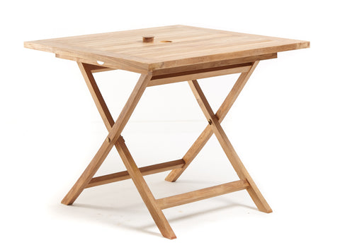 Square Folding Table- THE TEAK PLACE