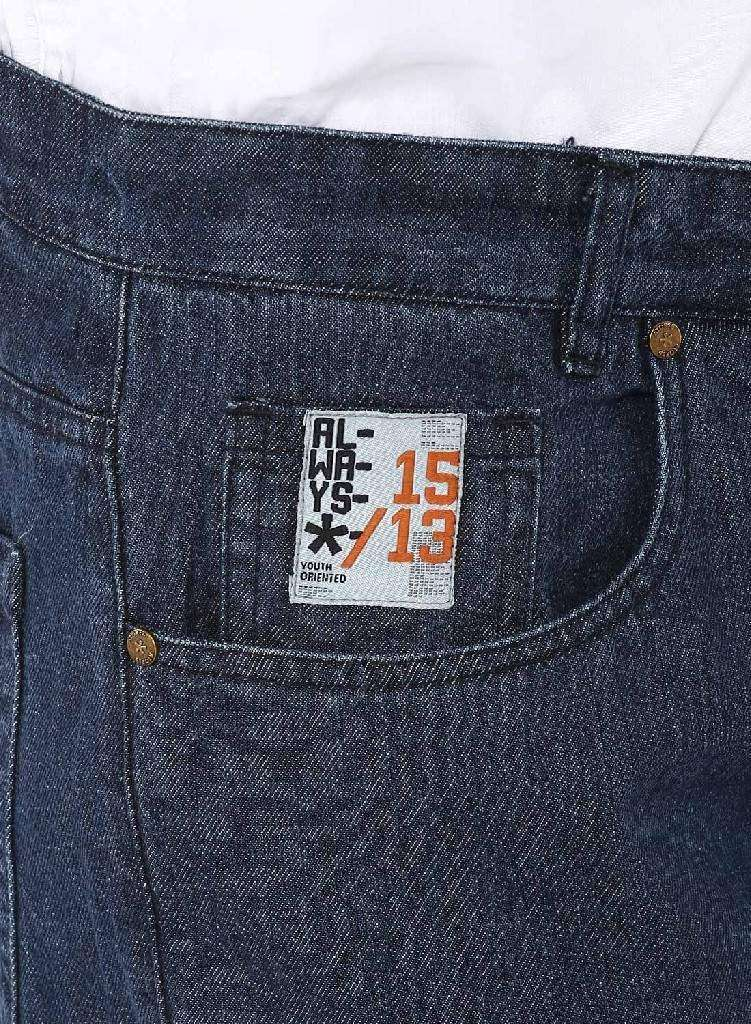 Atores  Dark Blue Casual Denim Pants