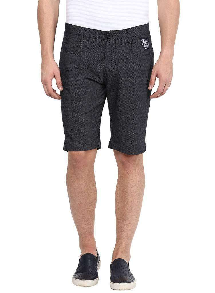 Black Casual Cotton Shorts