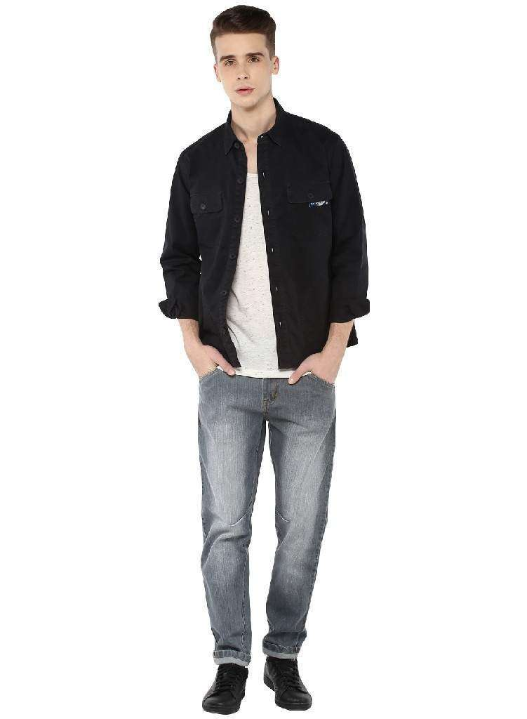 Enzyme washed Heavy Twill Shirt Jacket