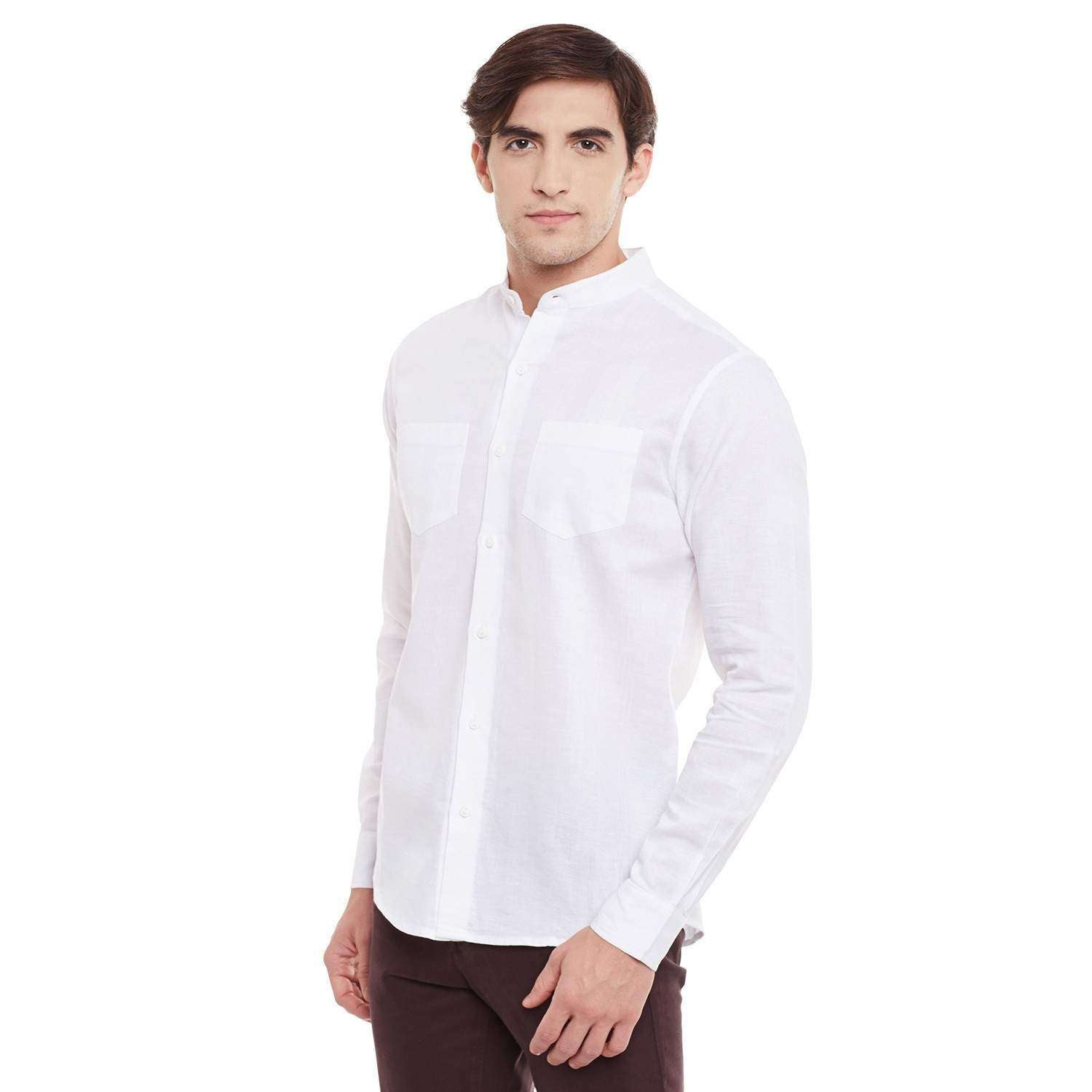 Full Sleeve Shirt with band collar