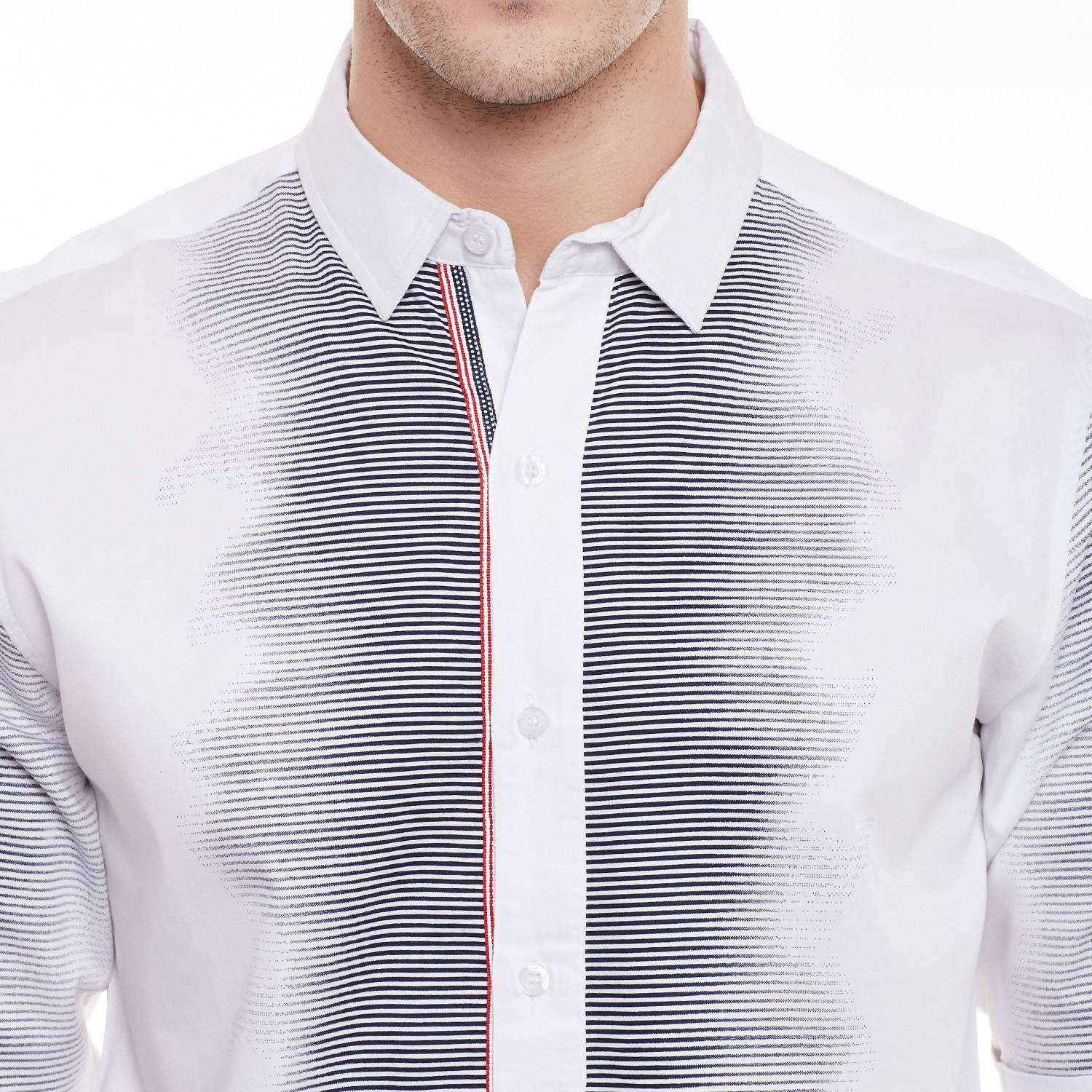Full Sleeve Shirt with Engineered print details