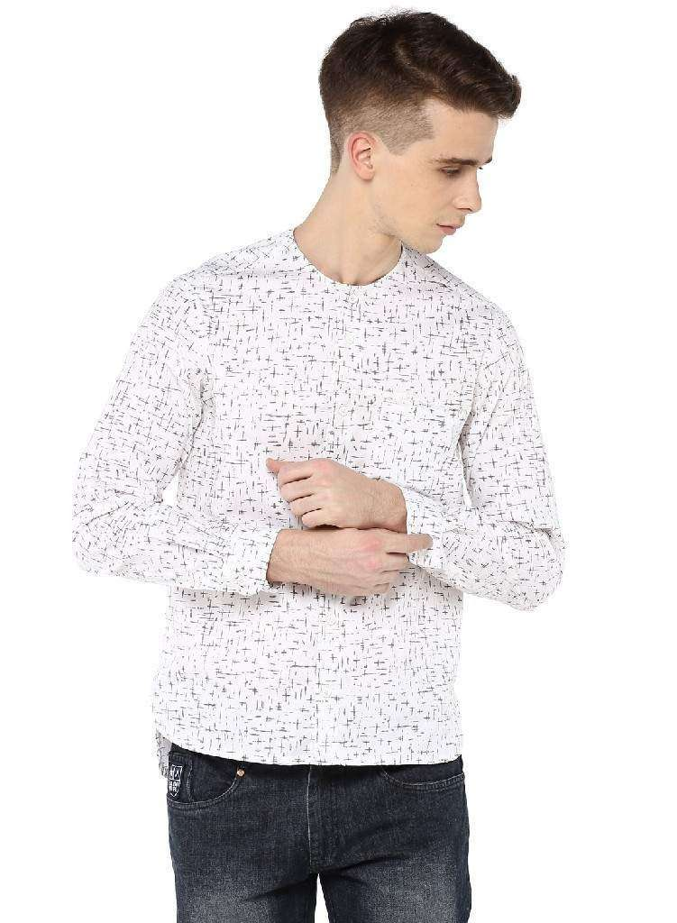 Full Sleeve Shirt with round neck and inseam chest pocket