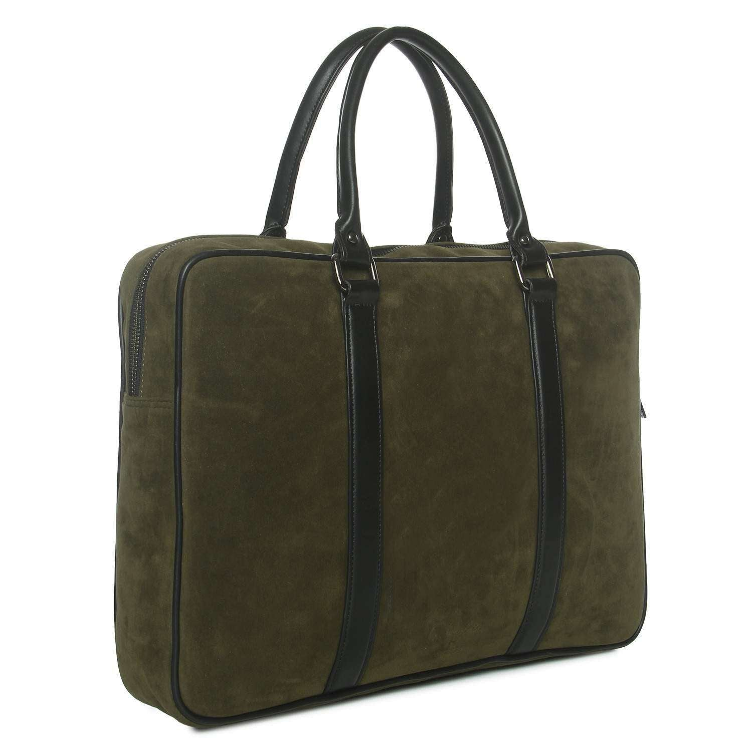 Mr Basher Olive Laptop Messenger Bag