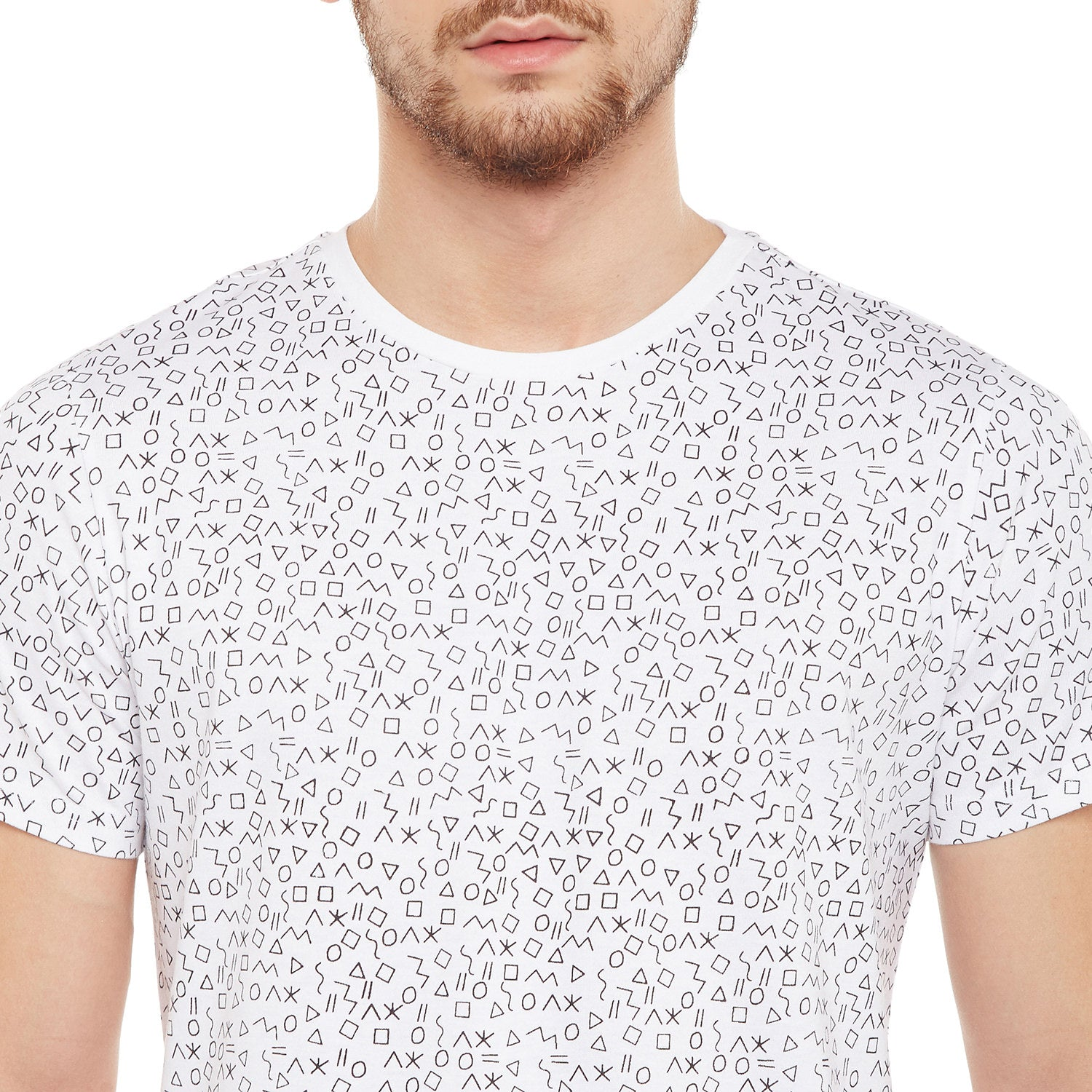 Atorse Mens Half Sleeves T-Shirt With Abstract Print