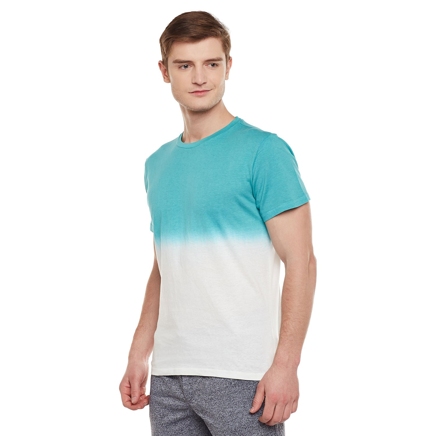 Atorse Mens Half Sleeve T-Shirt With Graphic Chest Print
