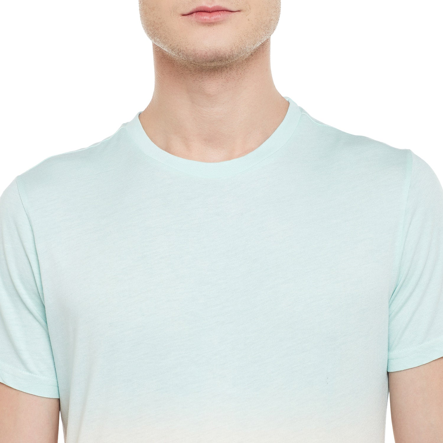 Atorse Mens Half Sleeve T-Shirt With Ombre Effect