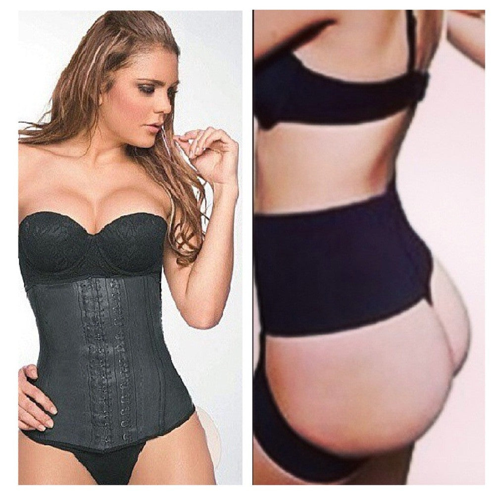 Classic Latex Waist Trainer and Brazilian Booty Bundle