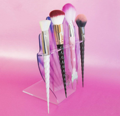 CLAM MAKEUP BRUSH STAND HOLDER - Unicorn Cosmetics