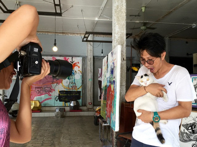 Sneak preview of our photoshoot with local artist Isara Thaothong