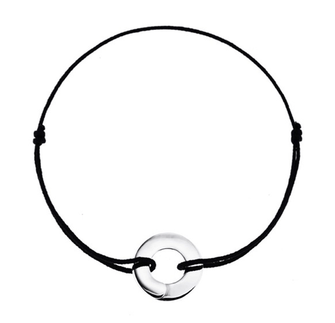 Full Moon Enso Bracelet in Silver - Buddha Jewelry