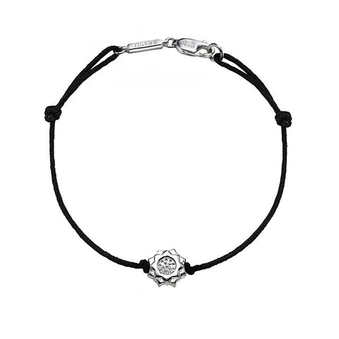 Lotus Flower Bracelet in Silver - Buddha Jewelry