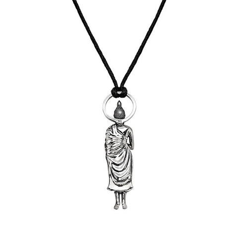 Contemplating Buddha Pendant in Silver | Friday Buddha - Buddha Jewelry - 2