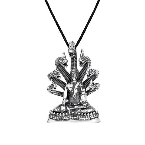 Protection Buddha Pendant in Silver | Saturday Buddha - Buddha Jewelry - 1