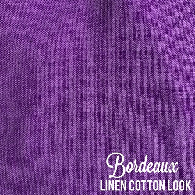 Bordeaux - Linen Look Cotton