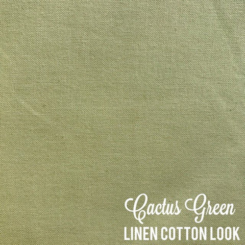 Cactus Green - Linen Look Cotton