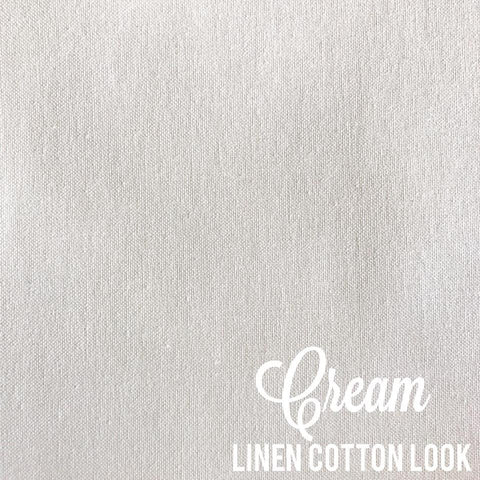 Cream - Linen Look Cotton