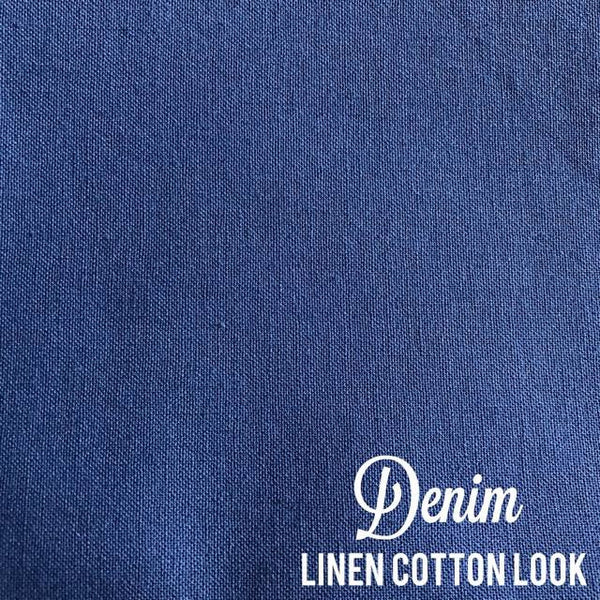 Denim - Linen Look Cotton